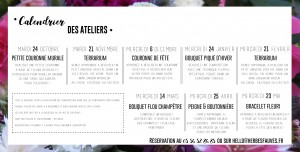 calendrier ateliers 2018